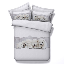 $enCountryForm.capitalKeyWord NZ - 3D adorable bedding sets dog duvet cover puppy bedspreads white comforter cover Bed Linen Quilt Covers silver bed cover for children kids