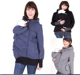 Maternity Sweater Coats UK - s-3xl women Clothing Carrying Worsted Baby Carrier Hoodie Kangaroo Coat&Sweatshirts for Mom and Wearing Hoodie Maternity Sweater