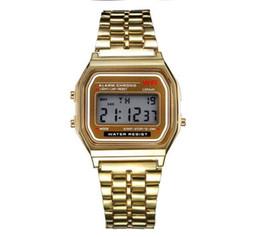 $enCountryForm.capitalKeyWord Australia - Wholesale Free Shipping Fashion Mens F91W Sports Watches Gold Silver Wrist LED Digital Watches Waterproof Clock