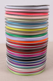 "grosgrain ribbons yards UK - 2 8"" (6mm) 200 Yards Grosgrain Ribbon Decorative Gift Packing Wedding Crafts Christmas Ribbons Bowtie Hair Clips Fabric 196 colors."