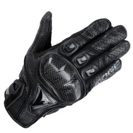 $enCountryForm.capitalKeyWord NZ - enuine Leather & Carbon Fiber Full Finger moto Touch Screen Motorcycle Gloves Motorcycle Protective Gears Motocross Glove