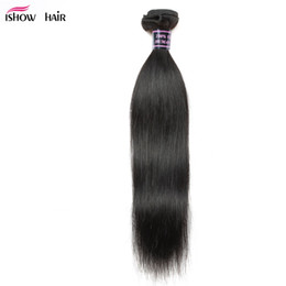 dyeable hair weave 2019 - Ishow Human Hair Wholesale 8A Unprocessed Brazilian Hair Peruvian Malaysian Body Straight Loose Deep Water Curly Weaves