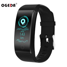 smart buckle watch Canada - OGEDA QW18 Smart Watch Sports Bracelet Color Heart Rate Pedometer IP68 Waterproof Watch Top Brand Luxury Fitness Watch Bracelet Y1892507