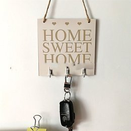 Decorate plates online shopping - Woodiness Square Hanging Plate With Hook Home Sweet Simple Decorate Practical Fine Firm Hanger High Quality jm Ww