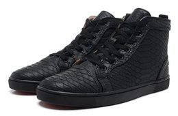 $enCountryForm.capitalKeyWord UK - Discount Snakeskin Red Bottom Sneakers Luxury Designer High Top Skate Sneakers Mens Womens Casual Shoes Brand New Comfort Wholesale Price