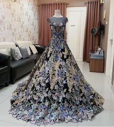 Venta al por mayor de Vestido de noche Yousef aljasmi Kim kardashian Vestido largo de manga corta Tul Vestido de bola Zuhair murad