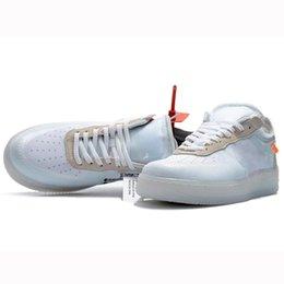 Venta al por mayor de 2018 Recién llegado Blanco 1 Zapatos clásicos Diseñador Senderos para correr Unisex Hombres Mujeres Deportes Zapatillas de deporte Entrenadores al aire libre Ocio