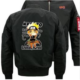 Discount anime winter clothing - 2018 NEW fashion jacket Japanese anime Hokage Ninjia bomber jackets Thick winter Flight jacket Men's cotton clothes
