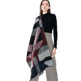 Оптовая новый Леди шарф соответствия цветов полосы двухсторонний шарф шаль дамы длинный шарф для осени и зимы 6 цветов выбрать