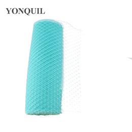 "$enCountryForm.capitalKeyWord UK - Cyan Birdcage Veils 10""(25cm) For women Millinery Hat Mesh Veil fascinator nettings material DIY Hair accessories 10yard lot Free ship"