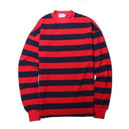 Fashion Crew Neck Striped Sweatshirt Men Women Fashion Oversized  Skateboards Hoodie Longline Cotton Shirt Sweater Sportswear SHH0312 0710c8cf0