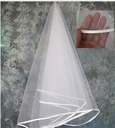 Hot Veils Australia - Free Shipping One Layer Tulle With Comb Bridal Veils Cheap Hot Sale High Quality