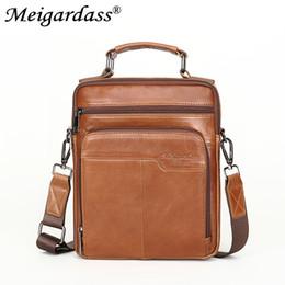 6050e5a802 MEIGARDASS Genuine Leather Vintage Men Messenger Bag Casual Travel Shoulder  Bag Male Crossbody Bags Handbags iPad Package Bolsas