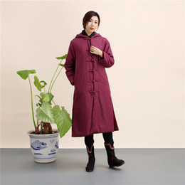 $enCountryForm.capitalKeyWord NZ - New Retro folk style warm coat winter long cotton padded jacket, cotton, linen, and cotton padded clothes.