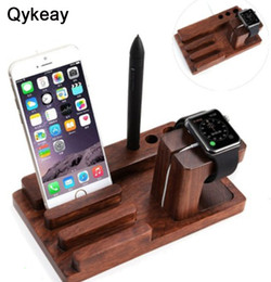 $enCountryForm.capitalKeyWord NZ - Multifunctional 3 in 1 Using Desktop Wooden Holder Wood Phone Stand for Apple Watch for Iphone 6 6s x 7 8 plus for Ipad Bamboo Charger Dock