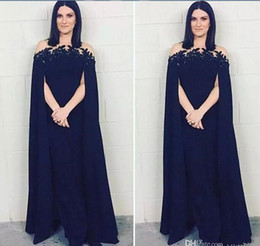 9cba03be619a3 Black Evening Abaya Australia - Arabic Evening Dress With Lace Applique Beaded  Long Chiffon Formal Occasion