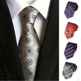 Wholesale high neck suits for mens resale online – High quality Neck Ties mens ties Jacquard Floral Stripes Business Suit Ties Neckties for Men Will and Sandy Drop Ship