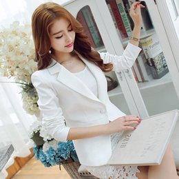 $enCountryForm.capitalKeyWord Australia - Women Blazers and Jackets Spring Autumn Long Sleeve Solid Color Womens Clothes Party Work Business Jacket for Lady.