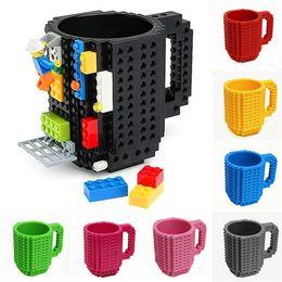 Kids Blocks Wholesale Australia - Build-On Brick Mug 10 Colors DIY Bulding Blocks Coffee Mugs 350 ml Creative Drinkware BPA Free Mug Birthday Gifts LA615