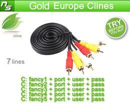 CCcam 7 Cline-Konto für 1 Jahr Gültigkeit für Großbritannien Deutschland Italien Spanien unterstützt cccam-Empfänger kostenlose Testversion