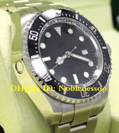 Original autOmatic watch papers online shopping - Luxury original box papers Mens Top Quality mm D Blue Black Ceramic Bezel Asia Movement Automatic Mens Watch Watches