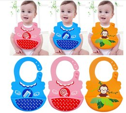 Silicone Baby Bibs Soft Canada - Best quality Silicone Waterproof Bibs - Soft Baby Bibs with Food Catcher Pocket - For Girls & Boys - Easily Wipes Clean&Dries animal design