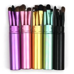 7ec79a0763b 5pcs Travel Portable Mini Eye Makeup Brushes Set Reals Eyeshadow Eyeliner  Eyebrow Brush Lip Make Up Brushes kit