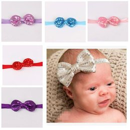 elastic girl hair 2019 - Girl Headbands Bowknots Kid Hairband Sequins Flowers Headband Children Hair Band Elastic Headwear Girl Hair Accessories