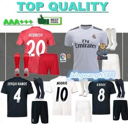 1c0537c1cd5 18 19 Real Madrid soccer jerseys adult sets 2018 2019 ASENSIO MODRIC BALE  ISCO RAMOS SUAREZ football shirts home away men's kits customize