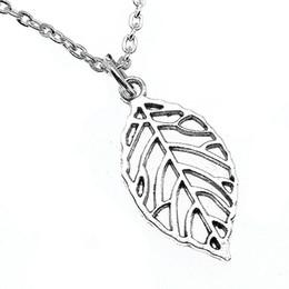 Necklaces Pendants Australia - WYSIWYG 5 Pieces Metal Chain Necklaces Pendants Male Necklace Fashion Hollow Leaves 27x13mm N2-B13674