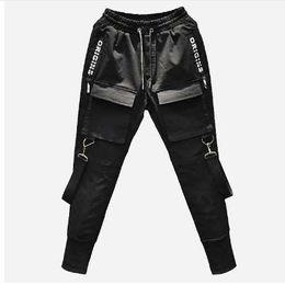8691f4518 Men low waist trousers online shopping - Men Multi pocket Elastic Waist  Design Harem Pant Street