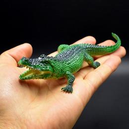 81284fcb 1100 unids / lote 4kinds 7 CM cocodrilo juguete Simulación realista  animales cocodrilo modelo figura de acción juguete
