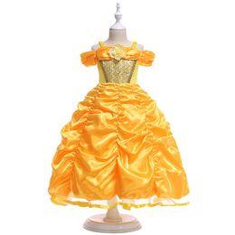 2017 ragazza principessa abito ragazze costume principessa abito condole  cintura Peng Peng manica di Natale Halloween b1d594dc335