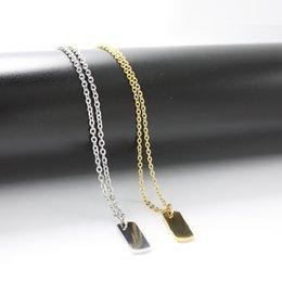 Großhandel Edelstahl-Frauen- / Mens-Halsketten-kleiner Edelstahl-Anhänger-Erkennungsmarken Armee-Typenschild-Mens-hängende Anmerkungs-Halskette