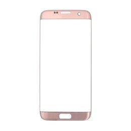 galaxy lcd screen UK - OEM Front Outer Glass for Samsung Galaxy S7 Edge G935F G935A Screen Replacement Front Glass LCD Lens