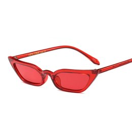 25c3c5f3220 Vintage Sunglasses Women Cat Eye Luxury Brand Designer Sun Glasses Retro  Small Red ladies Sunglass 2018 Black Eyewear oculos