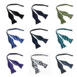 Bowties For Women Australia - Hot Fashion Striped Bowties For Men Women Suite Accessories Wedding Gravatas Slim Party Cravate Corbatas Skinny Red Bow ties JBT