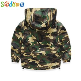 Baby Camouflage Jackets Australia - Sodawn 2017 Autumn Camouflage Boy Child Wear Baby Child Long Sleeve Hoodie Jacket Children Clothes Boy Outerwear Baby Boys Coats