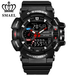 Wholesale LED Digital Quartz Multifunctional Mens Sports Watch Swim Luminous Hands Back Light Cool Men Dress Watches