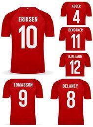 Discount manning 18 jersey - 18-19 Away White DENMARK Thai Quality Soccer Jerseys shirts, Customized Home red 10 ERIKSEN 4 AGGER 11 BENDTNER 9 TOMASS