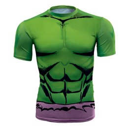 $enCountryForm.capitalKeyWord NZ - Men's fashion creativity t-shirt superman tights tee Superhero Hulk sport short sleeves cycling fast dry baskest vest