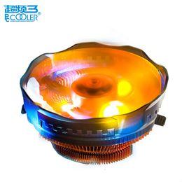 PcCooler 120mm LED 4pin cpu ventilador de refrigeración PWM silencioso cpu para AMD Intel 775 1150 1151 1155 1156 radiador de refrigeración bastante en venta