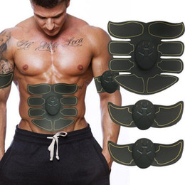 Wholesale Electric EMS Muscle Stimulator abs Abdominal Muscle Toner Body Fitness Shaping Massage Patch Siliming Trainer Exerciser Unisex