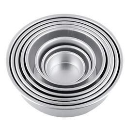 """Ferramentas de decoração do bolo fondant 4 """"Liga de Alumínio Não-stick Redonda Bolo Baking Mold Pan Tin Mould Bakeware cozinha em Promoção"""