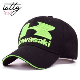 Red White Kawasaki Canada - IOTTG Kawasaki 3D Embroidery Baseball Cap Motorcycle Racing MOTO GP Caps Outdoor Adjustable Sports Sun Hat Casquette
