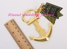 $enCountryForm.capitalKeyWord NZ - (40 Pieces lot) Event and Party favors of Gold Nautical Anchor Bottle Opener Wedding decoration favors and Party gifts