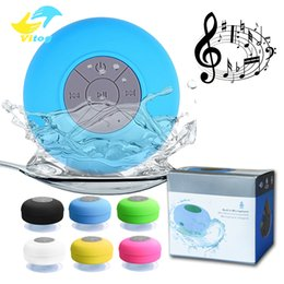 Mini Portable Subwoofer Shower Waterproof Speaker Wireless Bluetooth Car Handsfree Receive Call Music Suction Mic For iPhone Samsung from balancing scooters speaker manufacturers