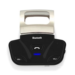 Bluetooth Car Kit Steering Australia - New Alloy Steering Wheel Wireless Bluetooth Handsfree Car Kit Handset Speaker