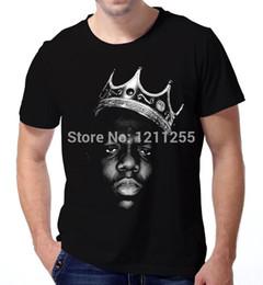 Discount hip hop t shirts big prints - King Biggie Small The Notorious B.I.G. Big Poppa Hip Hop Music T-Shirt Men 100% Cotton Printed Custom TShirt Size S~3XL