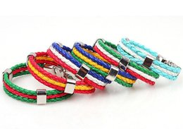 $enCountryForm.capitalKeyWord NZ - 2016 Olympic Games World Cup Fans National Flags Sports 3 Strands Rope Braided Surfer Leather Bracelets Mens Bracelets